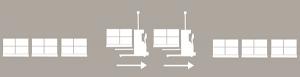Перевозка паллетов между буферами или зонами