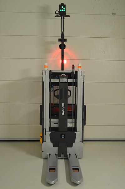 Робот-штабелёр вид сзади